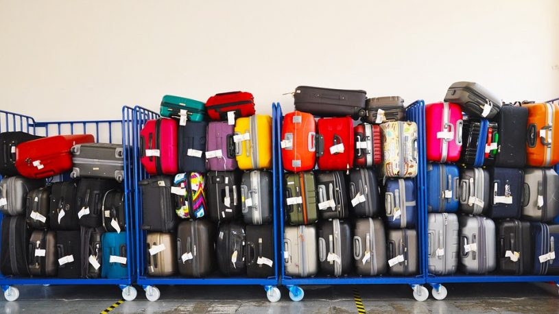 luggages in the airport