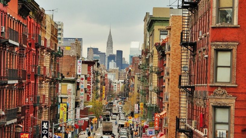 Chinatown streets in New York