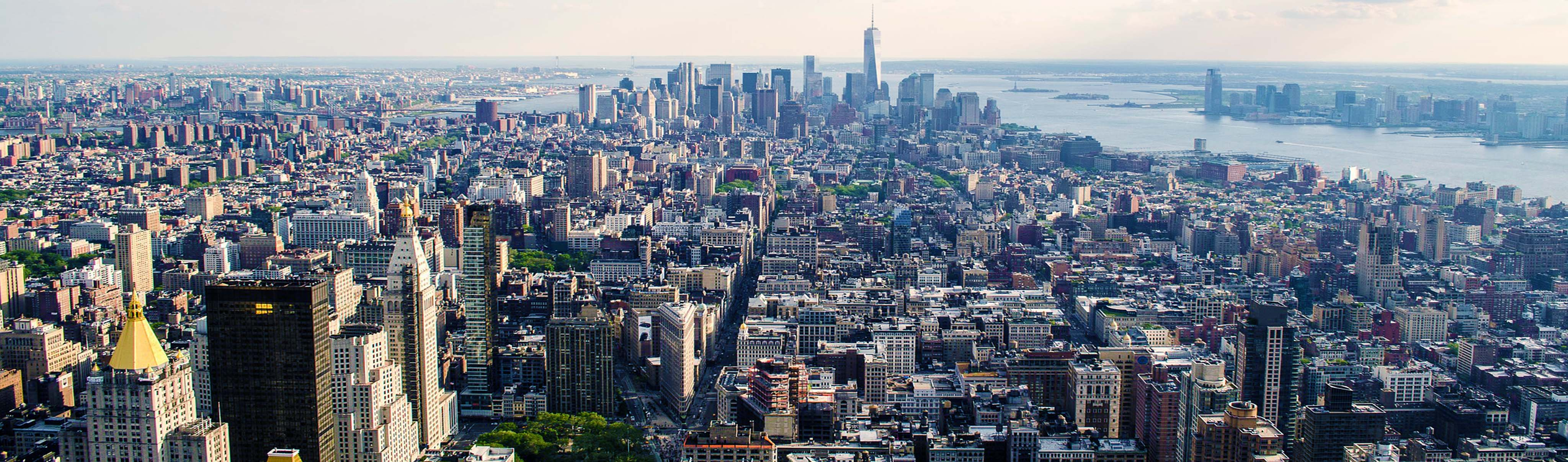 view of NYC from top